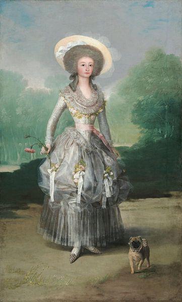 Die Marquesa de Pontejos, Francisco Goya von Meesterlijcke Meesters