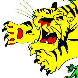Tekening tijger.