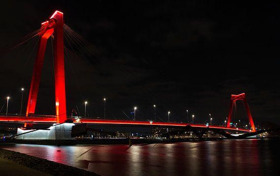Rotterdam by Night; Willemsbrug