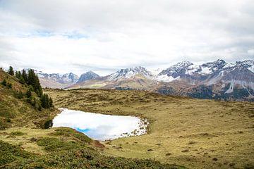 berglandschap Arosa, Zwitseland van Marieke Vroom