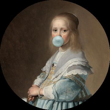 Portret van een Meisje van Marja van den Hurk
