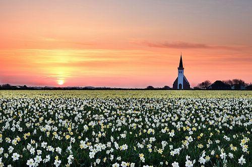 Texel kerkje Den Hoorn von John Leeninga