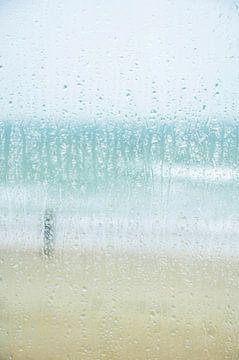 Kleuren van regen,zand,zee en lucht van Wies Steenaard