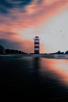 Leuchtturm-Pier IJmuiden von Jeroen Mondria