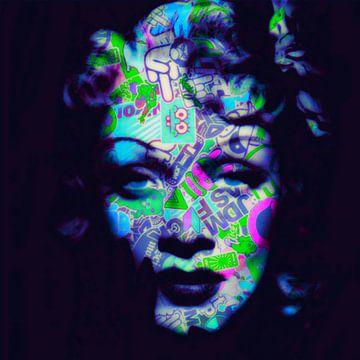 Motiv Marlene Dietrich - Overdosis - Dadaismus Nonsens von Felix von Altersheim