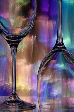 Wijnglazen van Wim Bodewes