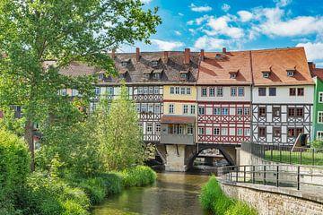Die Krämerbrücke in Erfurt, Deutschland von Gunter Kirsch