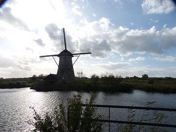 WIndmolens van Kinderdijk van Gijs van Veldhuizen
