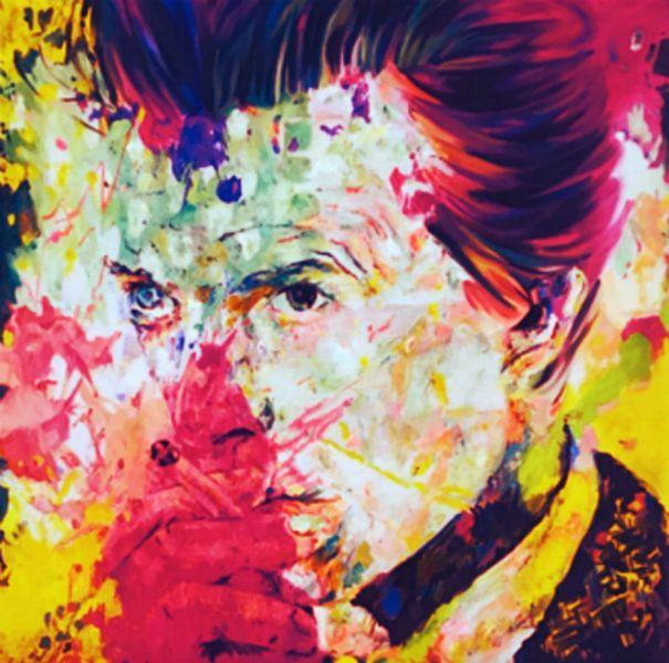 David Bowie Vintage Summer Splash Pop Art PUR von Felix von Altersheim