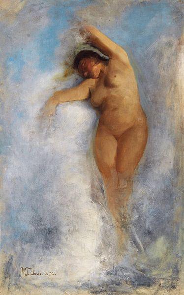 Weiblicher Akt im Schaum einer Welle, Wilhelm Trubner - Oceanide. 1872 von Atelier Liesjes