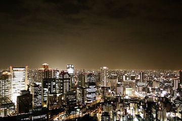 Skyline von Osaka van Melanie Jäger