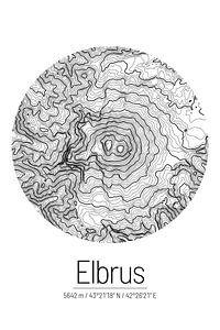 Elbrus | Kaarttopografie (Minimaal)