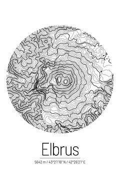 Elbrus | Kaarttopografie (Minimaal) van ViaMapia