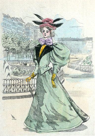 Mode 1899, Mode in het negentiende-eeuwse Parijs, Henri Boutet, (1851 1919) van Liszt Collection