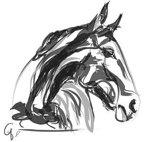 Paard Apple Black White