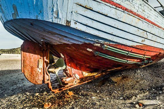 Roer van vissersboot