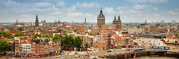 Blick auf den ältesten Teil des Stadtzentrums von Amsterdam von Frans Lemmens