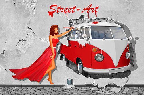 Street-Art in Digital-Art von