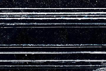 Grafische en abstracte lijnen in het ijs von Michèle Huge