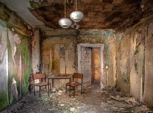 Abandoned hotel van