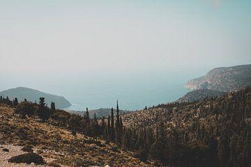 Uitzicht over de Middellandse Zee van Lisa Zet