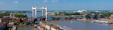 Panorama Hefbrug Dordrecht van