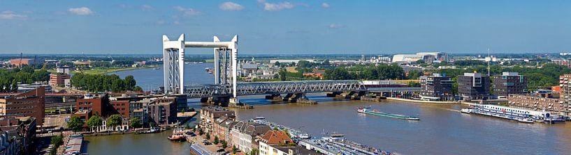 Panorama Hefbrug Dordrecht van Anton de Zeeuw