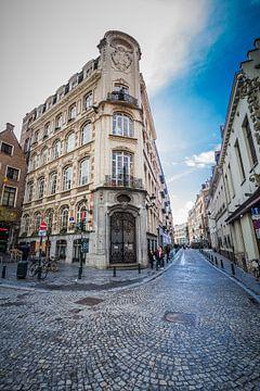 Stadsgezicht in Brussel van Wim Brauns