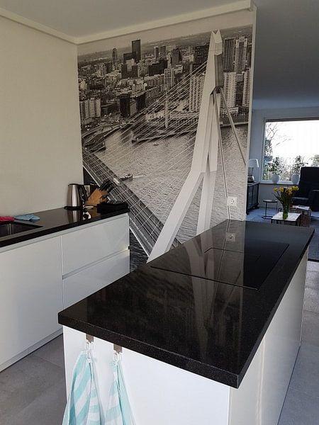 Kundenfoto: Rotterdam aus dem 44. Stockwerk von Rob van der Teen, auf fototapete