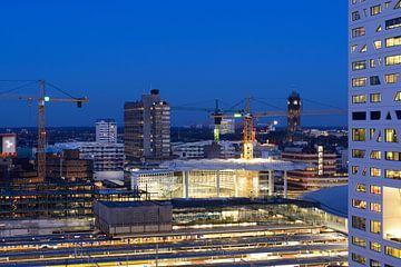Zicht op stationsgebied in Utrecht