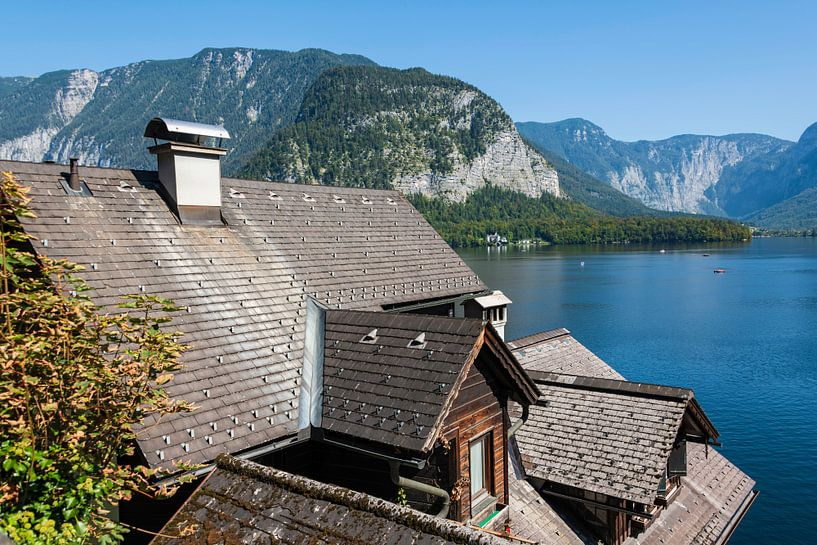 Uitzicht over het Hallstatt-meer van Peter Baier