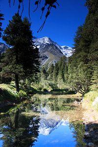 Watertje in de Zwitserse Alpen nabij Arolla van Anne van IJs