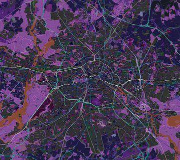 Inverse Kaart van Berlijn van Atelier Liesjes