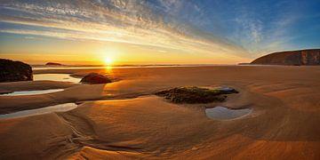 Cornwall's brede stranden van Silvio Schoisswohl