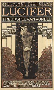 N.V. Het Toneel. Dir. Willem Royaards. Luzifer Tragödie von Vondel. Musik von Hubert Cuyper. Entwurf