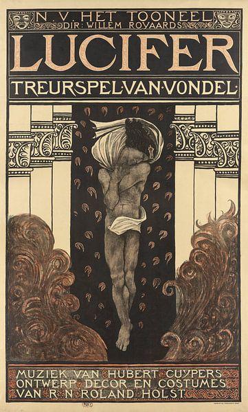 N.V. Het Toneel. Dir. Willem Royaards. Luzifer Tragödie von Vondel. Musik von Hubert Cuyper. Entwurf von Marieke de Koning