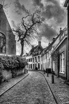 Breestraat historisch Amersfoort zwart-wit von Watze D. de Haan