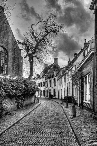Breestraat historisch Amersfoort zwart-wit van Watze D. de Haan