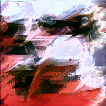 Abstract naakte vrouw van Maurice Dawson