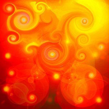Rote Drachen-Energie-Spirale van Ramon Labusch