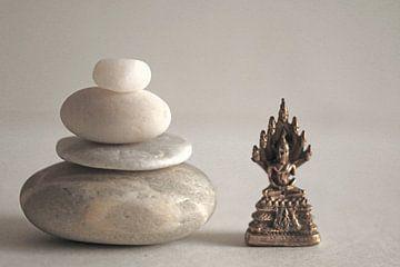 Stenen en Boeddha van Cora Unk
