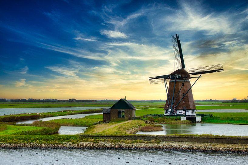 Molen Het Noorden op Texel van Hilda Weges