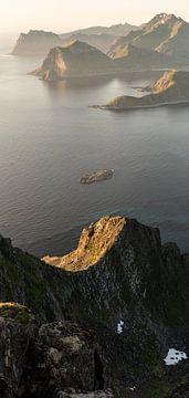 Panorama uitzicht Lofoten van Heleen Middel