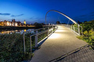 Dessau - Pont Tiergarten et silhouette de la vieille ville