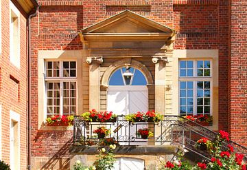 Eingangsportal, Dompfarramt, Bischöfliches Palais, Domplatz, Münster in Westfalen, Nordrhein-Westfal