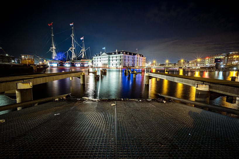 Het Scheepvaartmuseum in de avond van Fotografiecor .nl