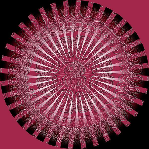 Mandala en rouge et noir van Martine Affre Eisenlohr