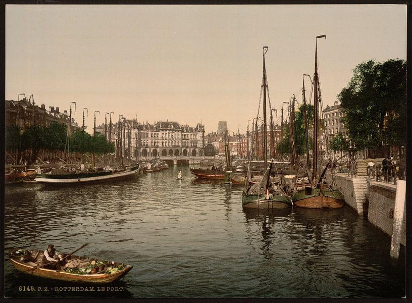 Kade, Rotterdam van Vintage Afbeeldingen