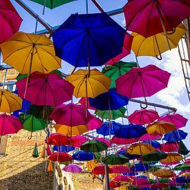 Gekleurde Paraplu's van Thomas van Galen