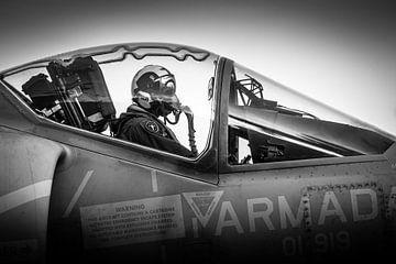 Harrier-Pilot ist bereit zum Abflug von Kris Christiaens